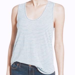 • MADEWELL • blue & white striped tank top